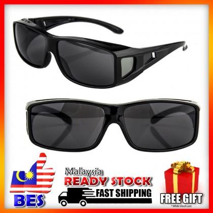 4GL Black Overlap Sunglasses Fit Over Eyeglasses Spectacles Eyewear