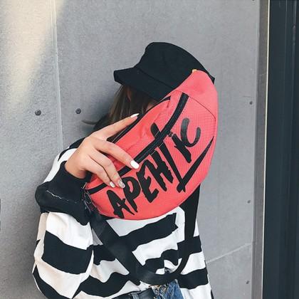 4GL Apehtic Waist Bag Crossbody Bag Sling Bag Chest Bag Waist Pouch Beg