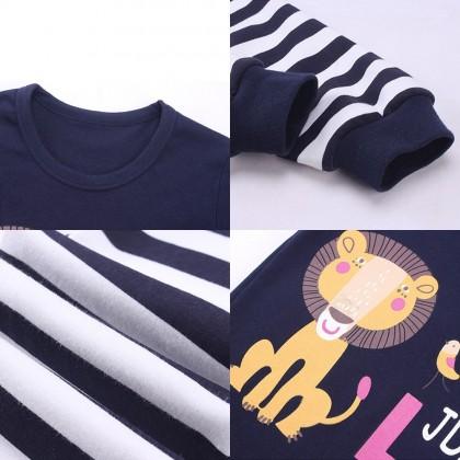 4GL KIDS CUTE 001 Pyjamas Long Sleeve Nightwear Pajamas Set Baju Tidur Tido Budak